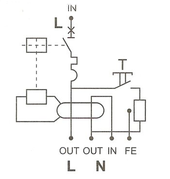 RCBO connections diagram