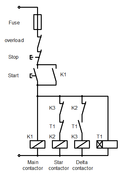 Single Line Diagram Star Delta Starter Wiring Library