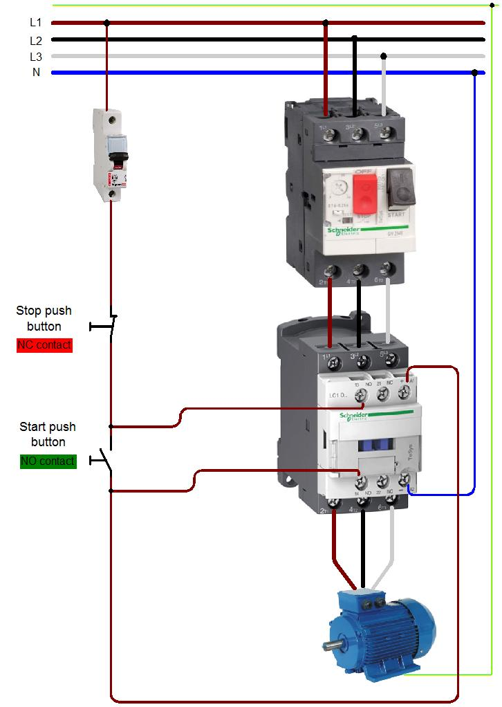 Wiring Diagram Contactor - List of Wiring Diagrams on