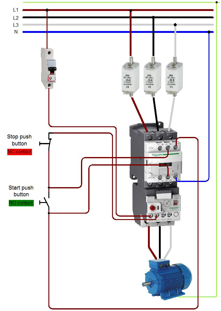 contactor wiring a switch of wiring diagram sys C240B Contactor Wiring