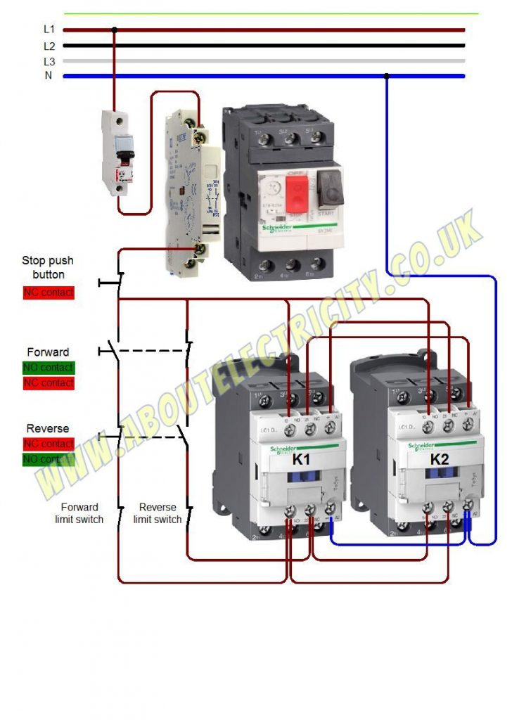 forward reverse with limit switches