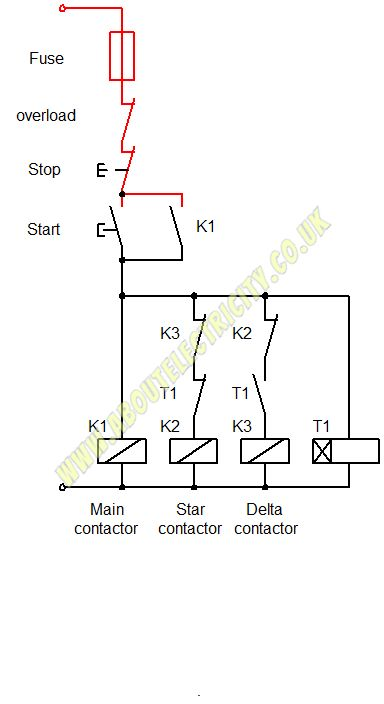 Star delta wiring diagram.